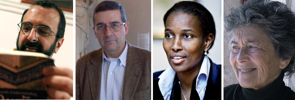 From Left to right : Robert Spencer, Serge Trifkovic, Aaayan Hirsi Ali and Bat Ye'or.